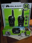 New Midland LXT500VP3 22-Channel GMRS with 24-Mile Range Radio Walkie Talkie