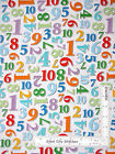 NUMBERS COTTON STUDIO E FABRIC Count With ME White BTY Children Kids Baby Quilts