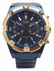 Guess U0377G4 Mens Stainless Steel Blue Ion Plated Chronograph 45mm Watch