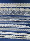 100 YDS  MIXED  WHITE AND ECRU  NEW AND VINTAGE SEWING LACE  2