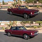 1968 Ford Mustang MUSTANG NO RESERVE 1968 FORD MUSTANG CONVERTIBLE 302 J CODE DAILY DRIVER POWER TOP RED
