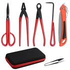 6 PCS Bonsai Tool Carbon Steel Shear Set Kit Scissor Pliers Cutter Saw w Case