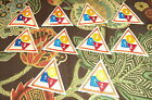 Lot of 10 Badges Girl Scout Triangle Badge Patch Numbers and Shapes