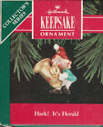 1992 Hallmark Hark It's Herald Handcrafted Ornament Series NIB NEW