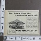 1959 Print Ad Allan Herschell Movie Drive In Kiddie Ride Merry Go Round