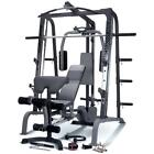 Marcy SM4000 Deluxe Smith Machine Home Multi Gym Weight Bench  7ft Olympic Bar