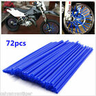 Motocross Dirt Bike Enduro Wheel Rim Spoke Skins Cover Blue Wraps PVC 72pcs/Set