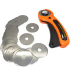 45mm Rotary Cutter Quilters Sewing Quilting Fabric Cut + 20 Rotary Cutter Blades