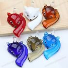 New Lovely Animal Fox Murano Lampwork Glass Pendant Jewerly Bead For Necklace