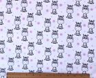SNUGGLE FLANNEL BABY ZEBRA  PINK DOTS on WHITE 100 Cotton FabricNEW BTY