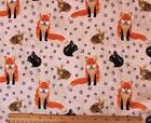 SNUGGLE FLANNEL  FOXES SQUIRRELS RABBITS  100 Cotton NEW BTY