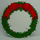 FITZ & FLOYD china HOLLY WREATH pattern DINNER PLATE 10-1/4