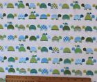 SNUGGLE FLANNEL  DESIGNER TURTLES in ROWS on OFF WHITE 100 Cotton NEW BTY