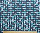 SNUGGLE FLANNEL  DOG PAWS  TEAL HEARTS  100 Cotton NEW BTY