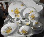 SANGO COTILLION YELLOW ROSE DINNERWARE LOT 29 P CREAMER DINNER PLATE SOUP BOWL