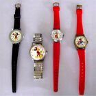 Vintage 4 Pc Mickey Mouse Walt Disney Productions Wind Watches Lot