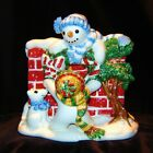 Fitz and Floyd The Flurries Christmas Snowman Napkin Holder Handcrafted 2058/408