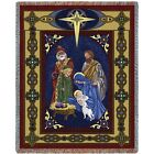 Nativity Scene Woven Art Tapestry Throw 856 T Made in USA