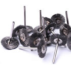 10Pcs 25mm Steel Wire Wheel Brush Compatible With Dremel Die Grinder Rotary Tool
