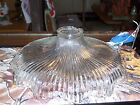 ANTIQUE RIPPLED GLASS SHADE,10 1/2