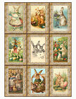EASTER BUNNY VINTAGE REPLICA 19 SCRAPBOOK CARD EMBELLISHMENTS HANG GIFT TAGS