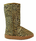 Chulis Leopard Animal Print Winter Boots Faux Fur Lined 10 Mid Calf NEW