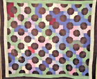 RARE AMISH BOW TIE QUILT  1930S HOLMES COUNTY OHIO 72