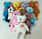 10 Pack Wholesale Lot- Ty Beanie Bears- Maple/Nipponia 2000/1st Germania/ ++  2A