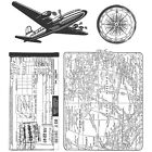 Stampers Anonymous CMS 102 Tim Holtz Cling Stamps 7X85 Air Travel