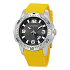 Nautica Silver Dial Yellow Silicone Mens Watch NAI12520G