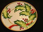 Fitz and Floyd Noel Classique Canape Cookie Plate Christmas Holly Retired 2004