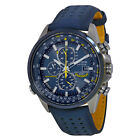 Citizen AT8020-03L Eco Drive Blue Angels World Chronograph Leather Mens Watch