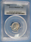 1964 Roosevelt Silver Dime PCGS Certified PF 68DCAM CAMEO Graded RARE POINTED 9