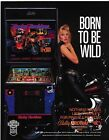 Pinball flyer harley davidson autograph by designer Barry Oursler free shipping
