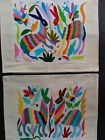 2 NEW MEXICAN HANDEMBROIDERED PILLOW CASES LATIN NATIVE TEXTILE ART NATIVE CRAFT