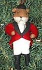 Felt Fox RED FOX EQUESTRIAN Dressed Felt Xmas Ornament RETIRED