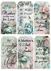 MOTHERS DAY FAMILY 05 SCRAPBOOK CARD EMBELLISHMENTS HANG GIFT TAGS