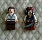 LEGO PIRATES OF THE CARIBBEAN JACK SPARROW WILL TURNER MINIFIGURE LOT