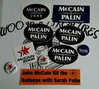 Lot 10 John McCain Sarah Palin 2008 Presidential Election Button Pins Stickers