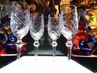 WATERFORD CRYSTAL POWERSCOURT PATTERN SET 4 CHAMPAGNE FLUTES glasses stems