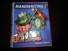 Handwriting 2 Bob Jones teacher guide BJU 2nd grade homeschooling