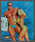 1998 Brandy and Aaron Maddron Autographed Muscletech 8x10 Ad
