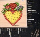 All Night Media Wood Rubber Stamp Mary Engelbreit Heart