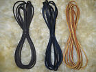 Pair 2 LEATHER Boot Shoe LACES Rawhide Lacing 72 6ft Black Tan Dark Brown