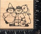 Hooks Lines  Inkers Wood Mounted Rubber Stamp Spookin