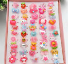 20Pcs Wholesale Mixed Lots Cute Cartoon Children/Kids Resin Rings Jewelry Hot