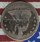 KAPPYS 1854 ARROWS CNST COUNTERSTAMP C.FORSBERG RALAU LISTED SEATED  QUARTER