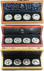 III Silver Proof Coin Sets - 12 Coins