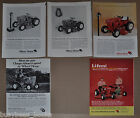 1964-68 WHEEL HORSE advertisements x5 lawn tractor hitching post Teddy Roosevelt