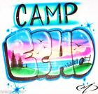 Customized Airbrushed Camp T Shirt